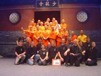 Fire Dragon Club members with the Shaolin Monks, on their visit to Canberra. (Thanks to Stephen Wells for the photograph)