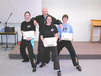 Master Hardy graded some of his female students - (l-r) Deborah, Ingrid and Amy
