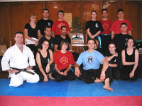 Pai Lum students were joined by Sensei Ryan van Leent (left)