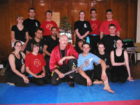 Master Hardy with his students