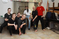The Australian Dragons with Grandmaster St Charles - Pai, Shinzan, at the Course.
