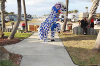 Master Riddick's Lion Dance performs