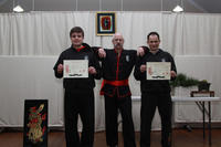 Master Hardy with Wasu  Kilimnik on his right, and Chris Gunton, on his left.