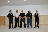 Master Luciano with the Australian Dragons - L-R: Wasu Bernard Kilimnik; Master Patrick Bellchambers; Grandmaster Hardy; Master Luciano, and Sifu Elinor Jean.