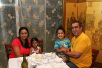 Govinder Singh and his family also enjoying some good food!