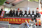 Grandmaster Hardy and his students lead Chi Gung for the audience at the 2014 Chinse Spring Festival