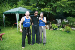 Master Hardy with Master Sanders and Grandmaster St Charles - July 2007